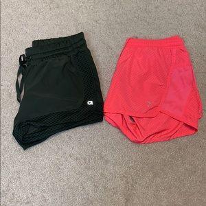 Set of Gap and Old Navy running shorts